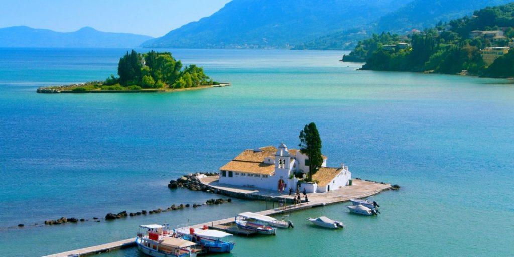 pontikonisi corfu island views