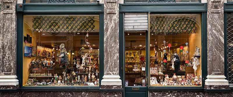 Image of chocolate shop window display