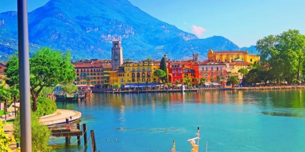 Riva del Garda in Trentino Italy in the sunshine